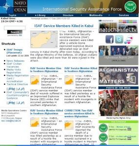 ISAF-Homepage vom 17.09.09