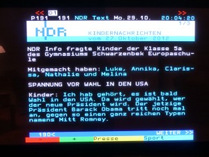 NDR-Kindernachrichten. Obama gut, Romney böse