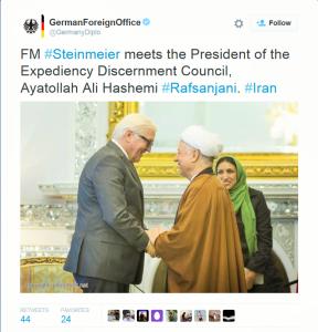 Steinmeier und Rafsandschani in Teheran